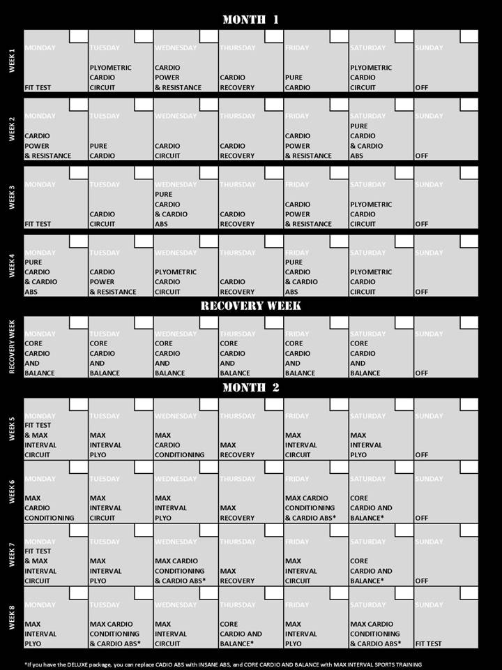 P90x2 Workout Sheets Excel – P90x Worksheets Pdf